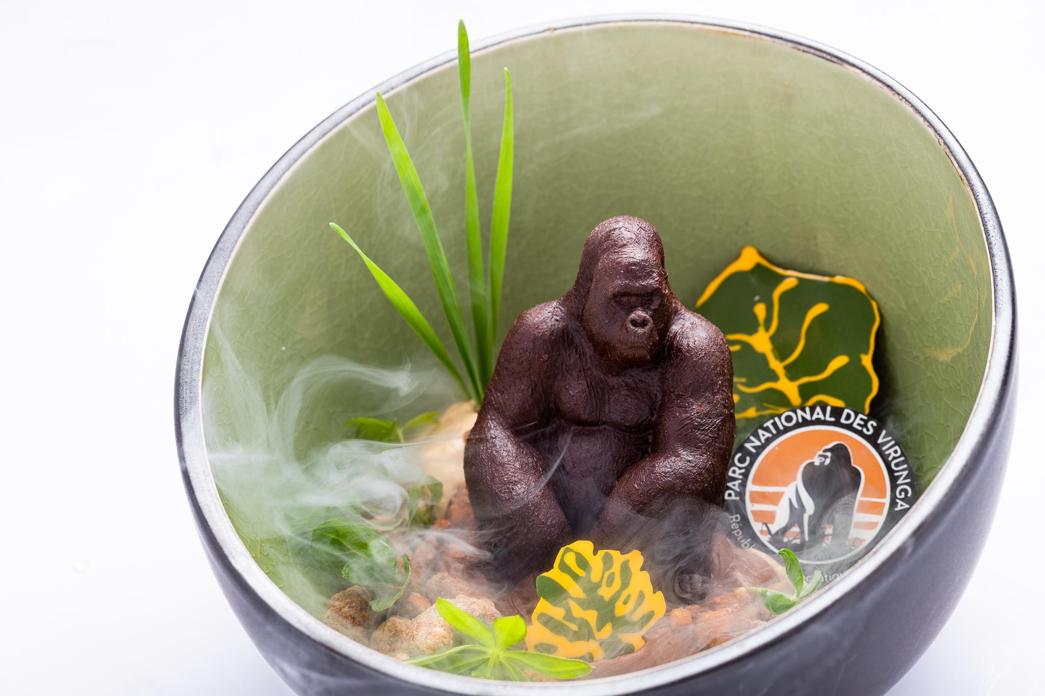 Gorillas in the mist: Virunga chocolate, hazelnut, apple, sorrel - THE CHOCOLATE LINE