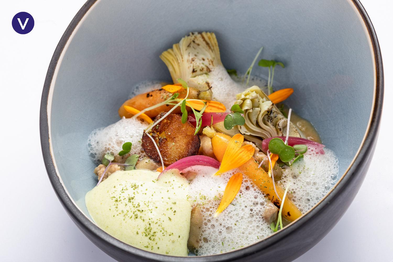 Limousin veal 'blanquette', artichoke, carrots, estragon - Atelier Ducheyne