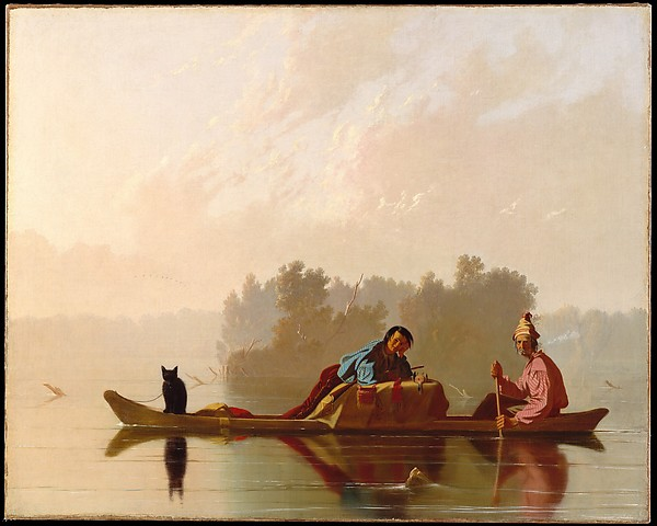 Fur Traders Descending The Missouri, 1845 . Courtesy  The Metropolitan Museum of Art .