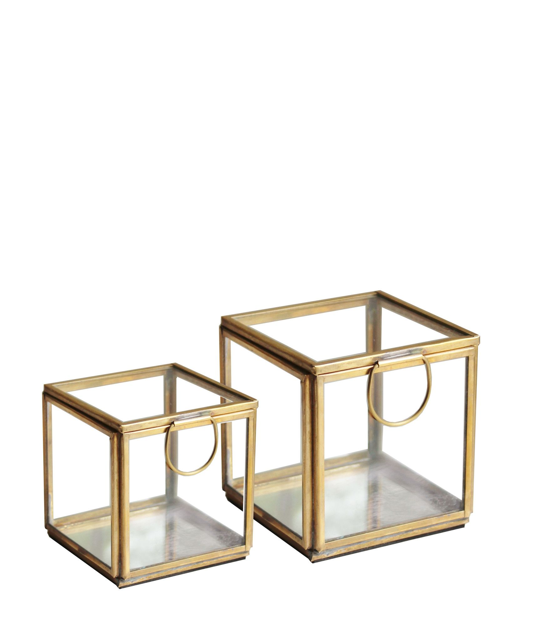 glass and brass ring box