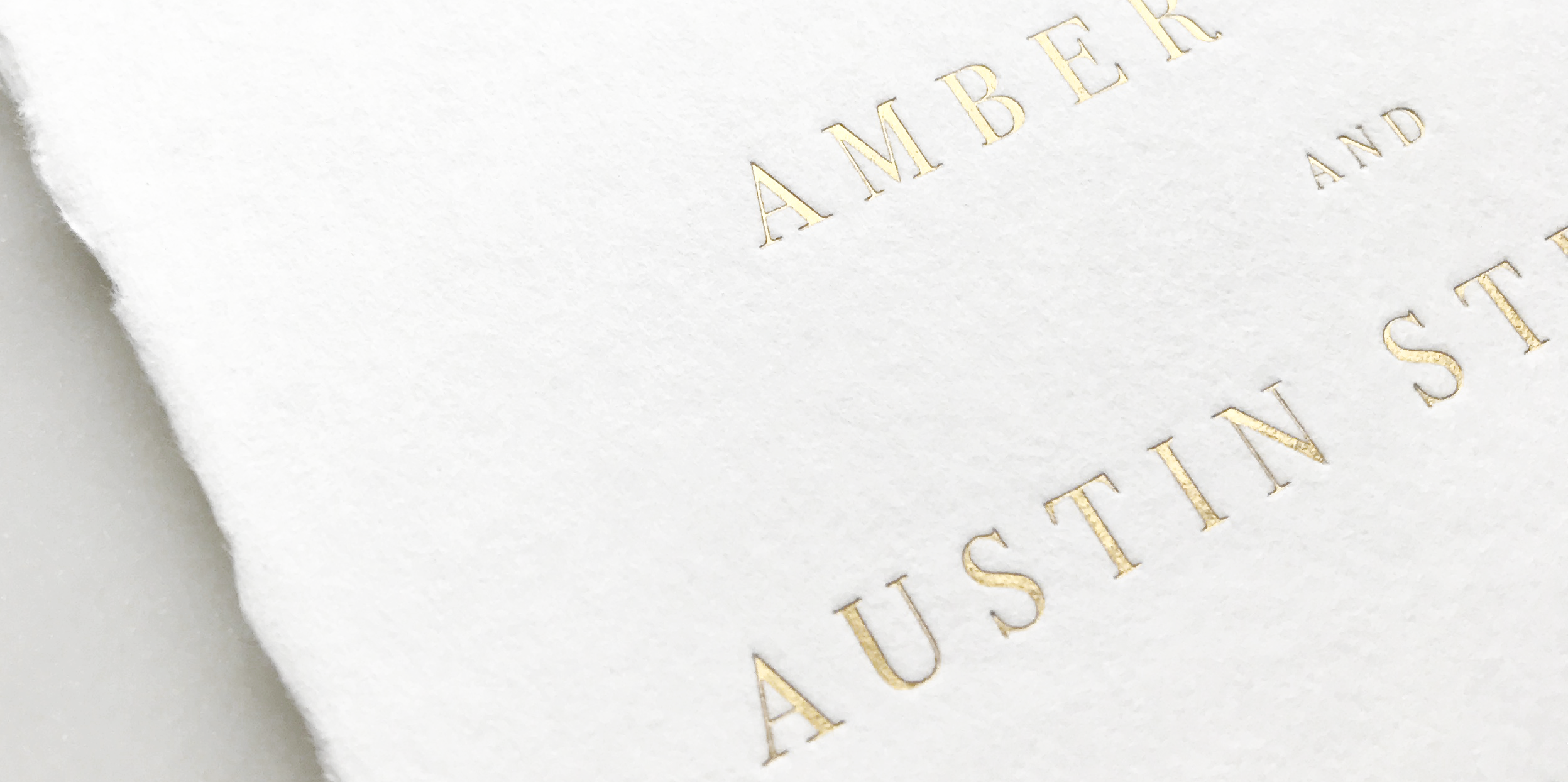 Semi-Custom Invitation Printing Methods – Gold Foil