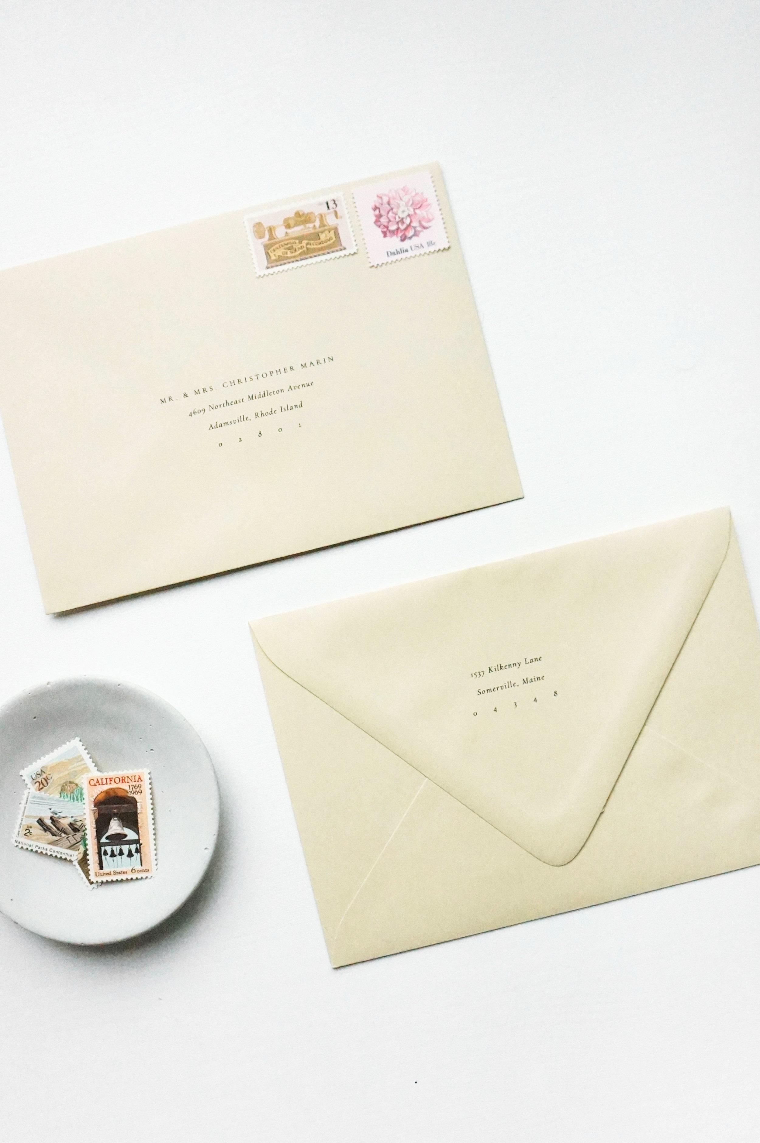 Gatherie Creative Semi-Custom Invitations - Envelopes