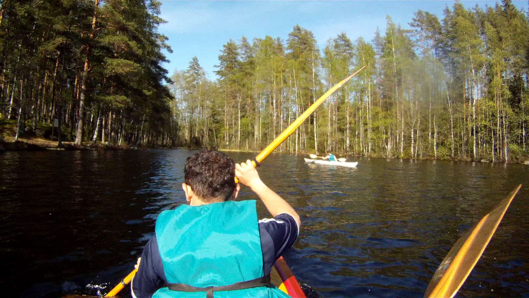 Canoeing route around the lakes Suomijärvi and Kuolimo