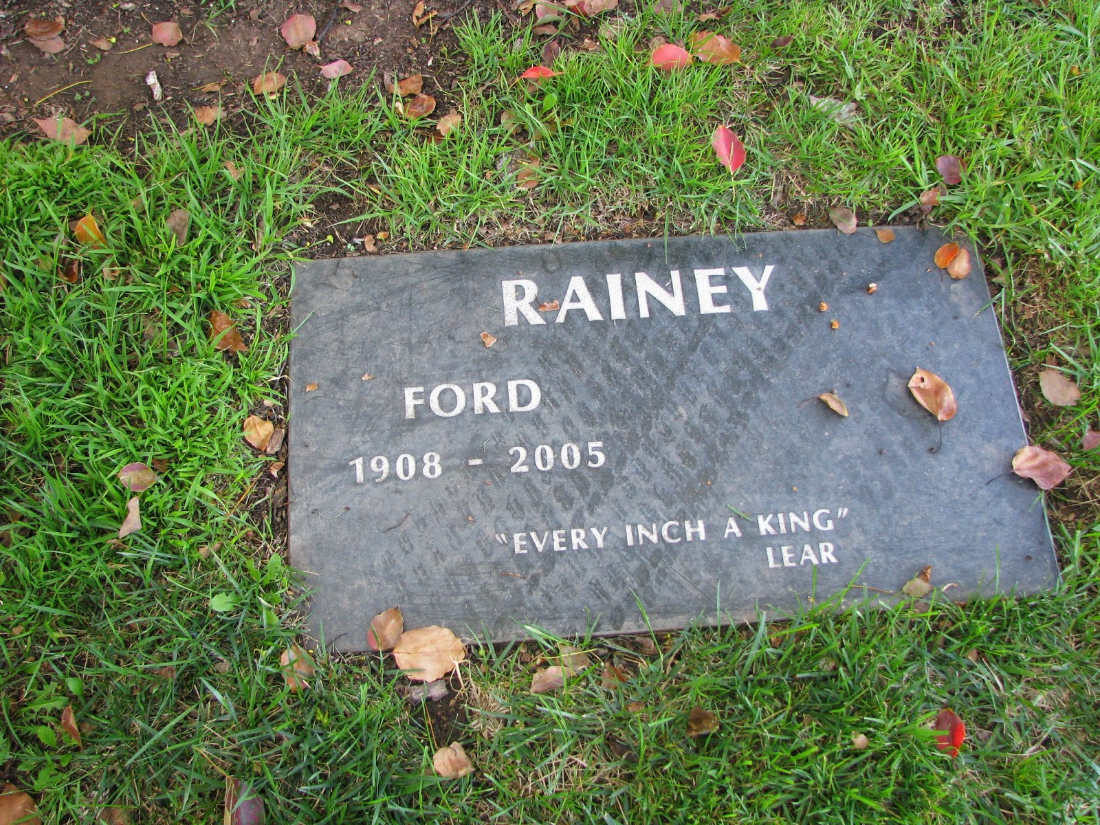 The late Ford Rainey (Dr. Mixter)