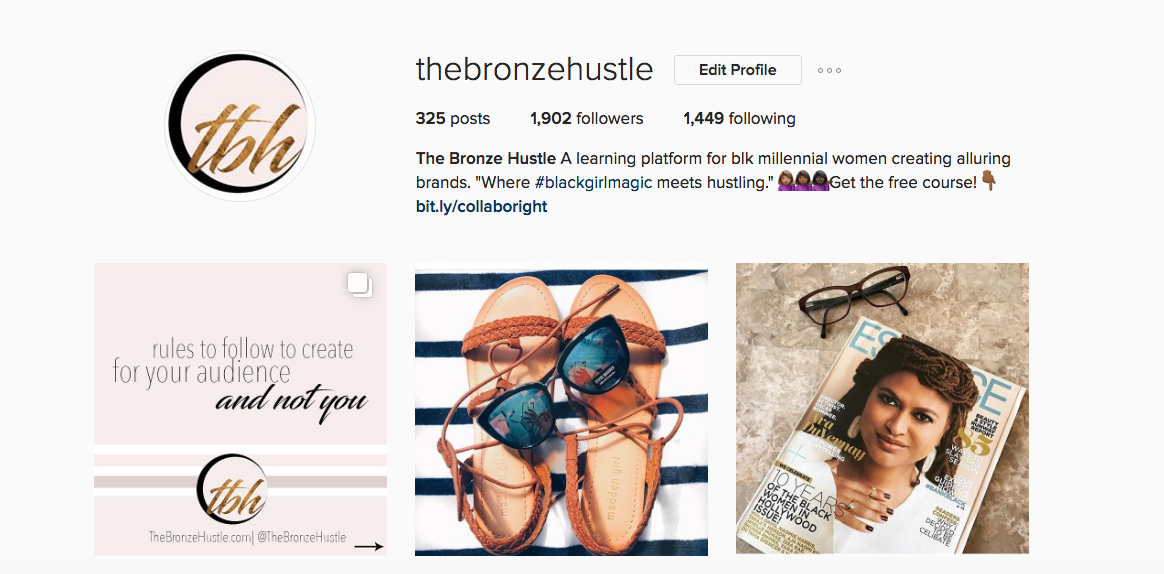 the bronze hustle instagram