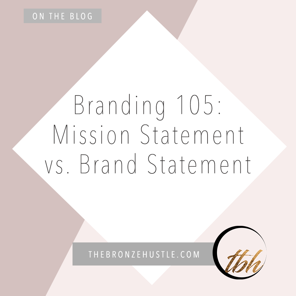 mission statement vs brand statement