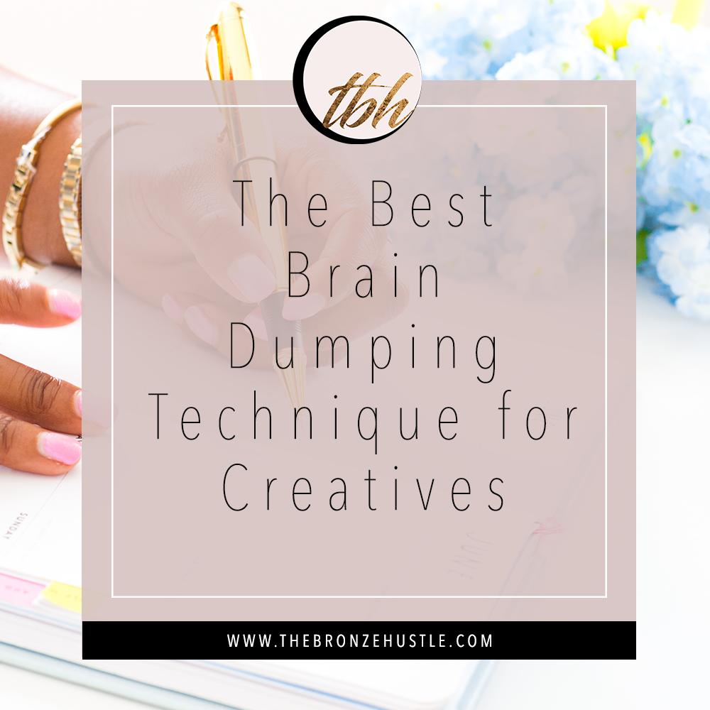 brain dumping technique for creatives