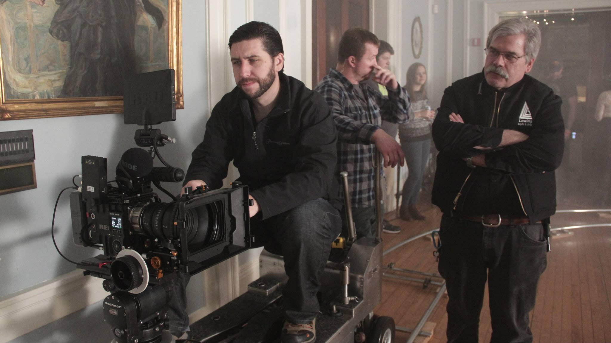 Gaffer David Lowing from    Lowing Light & Grip    working closely with DoP Tristan Barnard.