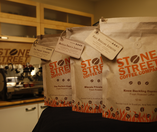Stone Street Coffee Company   Dedicated to the fine art of handcrafted coffees & because we only roast in small batches, we are able to expertly develop each coffees unique characteristics and full flavor profile.