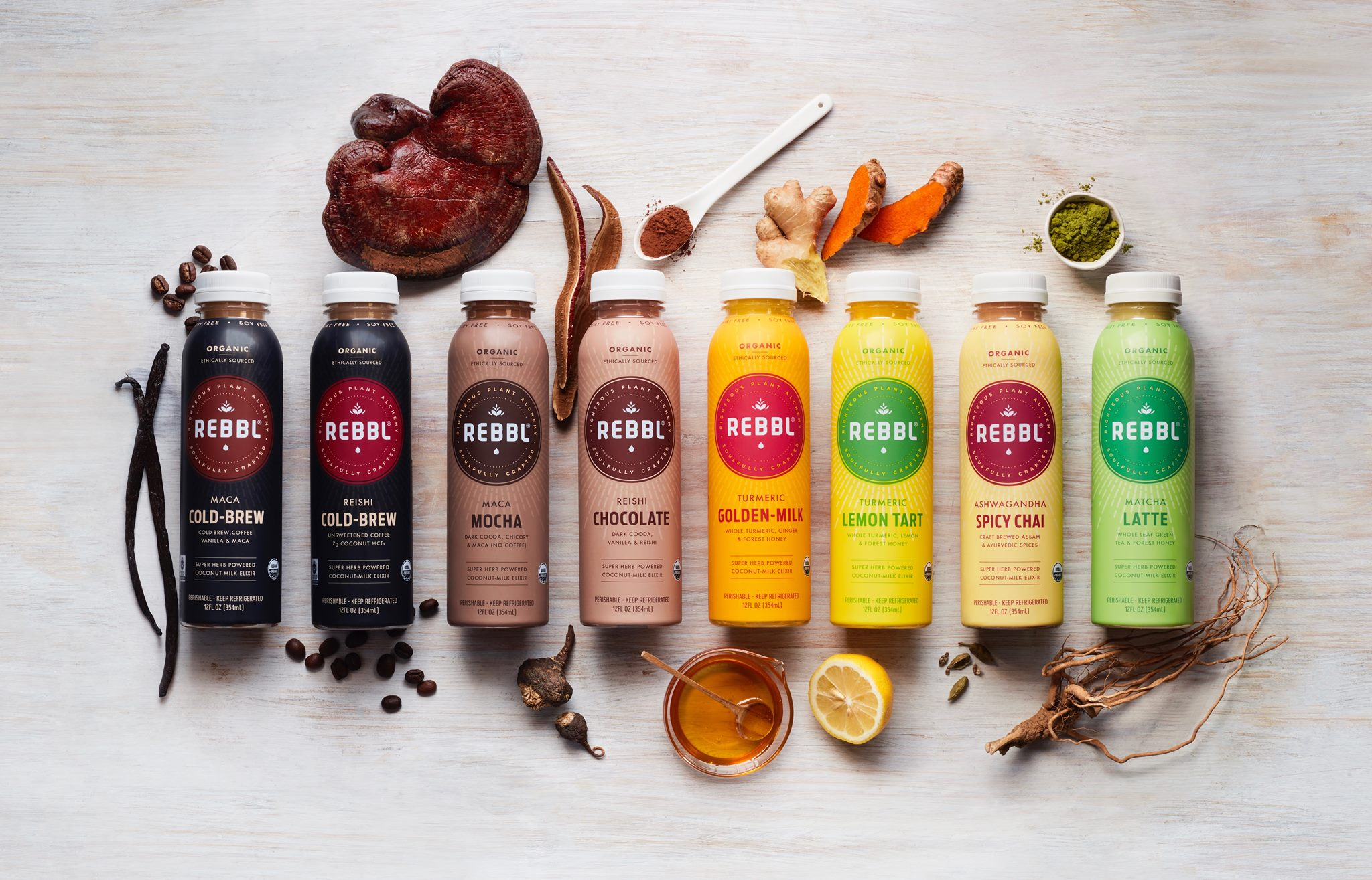 Rebbl   REBBL exists to bring you the highest quality ingredients, with herbal adaptogens at truly meaningful levels, to help you achieve your optimum state of wellness.