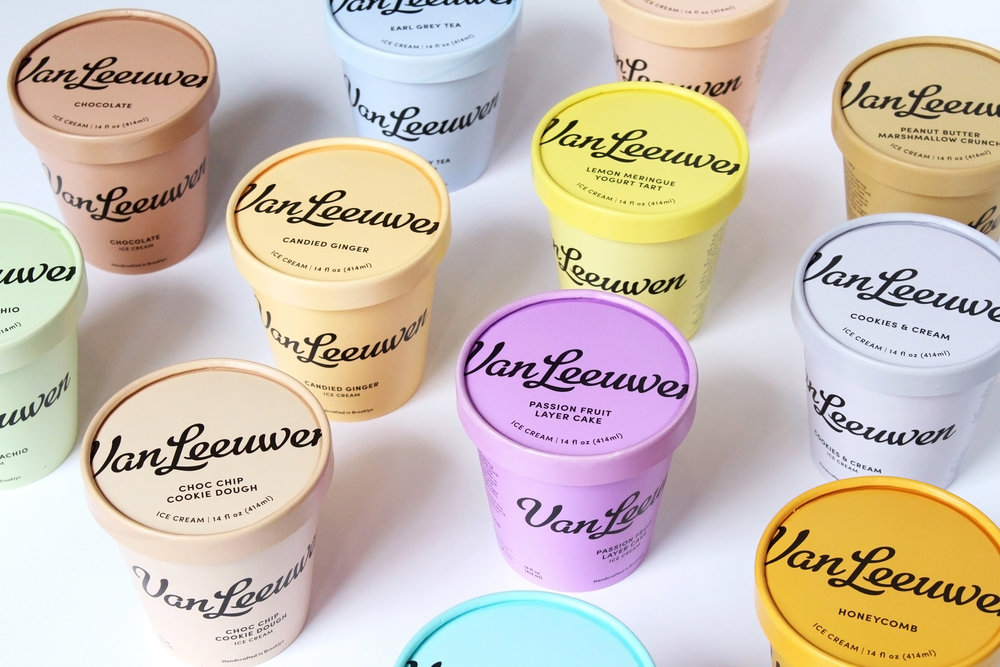 Van Leeuwen Artisan Ice Cream   We make our ice cream from scratch in Greenpoint, Brooklyn, using only fresh hormone and antibiotic free milk and cream, cane sugar, egg yolks and the best fruits, chocolates, spices and nuts from small producers locally and around the world.