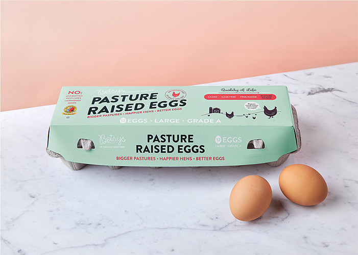 Betsy's by Handsome Brook Farm   Certified Humane, Organic eggs from upstate NY.