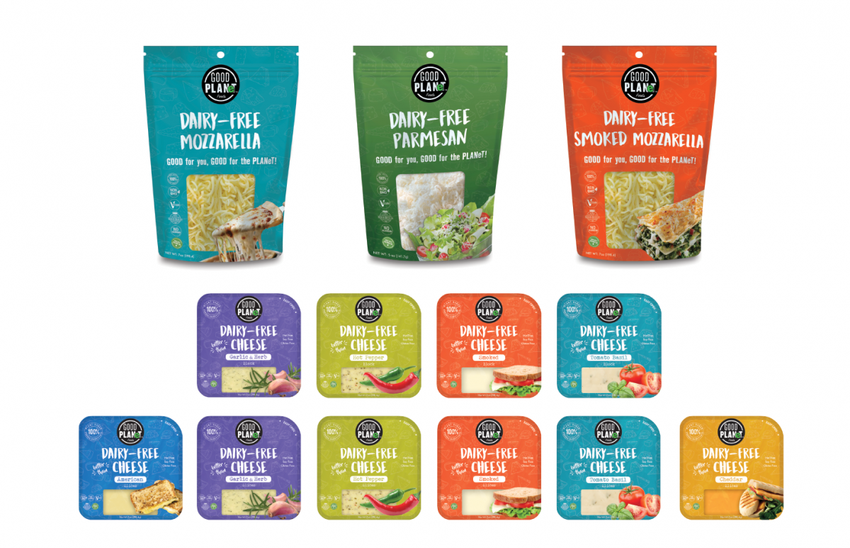 GOOD FOR YOU, GOOD FOR THE PLANeT   A RANGE OF PREMIUM VEGAN CHEESES WHICH ARE DAIRY FREE AND MADE ENTIRELY FROM INGREDIENTS OF PLANT ORIGIN