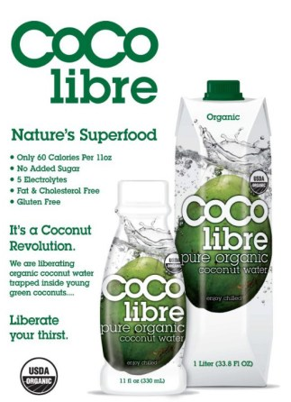 Coco Libre   Organic green young coconuts grown in organic certified fields on islands in the South Pacific. Grown in Fields. No Pesticides. Sustainable Agriculture.