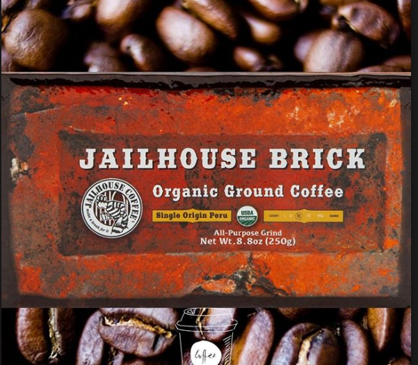 Jailhouse Organic Brick   Single origin organic ground coffee from Peru 8.8 oz (250g)