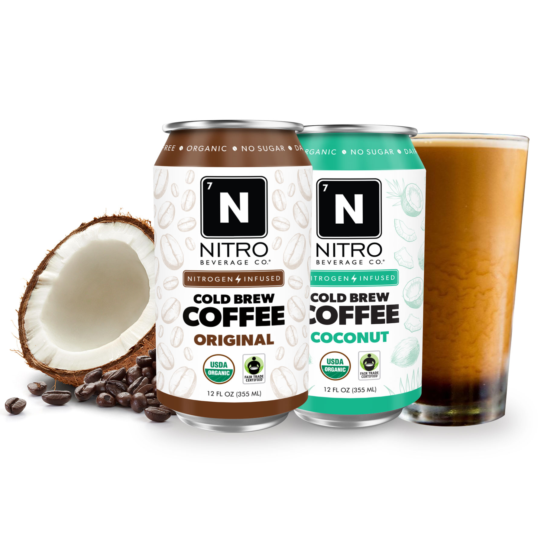 Nitro Beverage  From humble beginnings selling coffee on a bicycle to now being a national beverage company. The NITRO Beverage Co. story is the true entrepreneurial dream. Nitro is defining a new and sustainable segment for the beverage industry: Nitrogen-Infused beverages! The main benefits of infusing a beverage with nitrogen are that it creates this beautiful cascade, a naturally sweet & creamy texture, and a silky smooth finish. It's truly an unforgettable drinking experience.