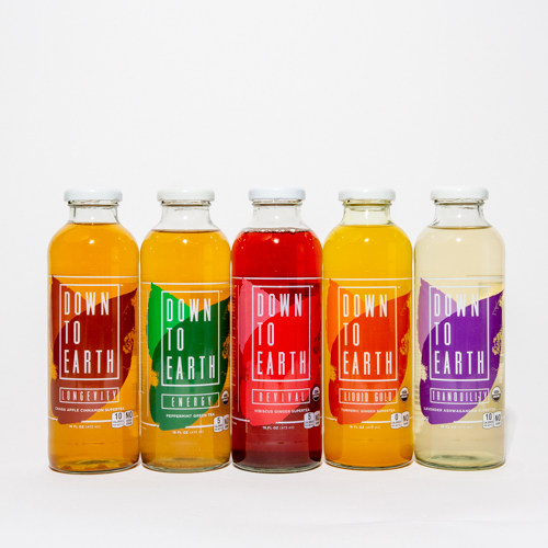 Down to Earth  Down To Earth supertea beverages come directly from nature and are loaded with nutrients that may provide consumers with long-term health benefits and help strengthen their overall sense of well-being