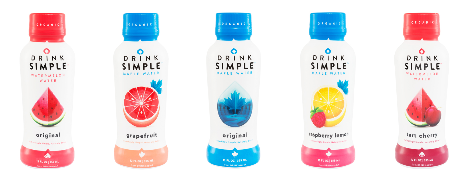 Drink Simple  OUR MAPLE WATER     Maple water is water tapped from maple trees that is packed with nutrients that fuel the tree, and can fuel you! It's pure refreshing water that has a hint of maple taste. It's naturally alkaline and contains electrolytes, antioxidants, and prebiotics. Maple water is more hydrating than water with 1/2 the sugar of coconut water.  OUR WATERMELON WATER     Our Watermelon Water is the juice from organic watermelons that we filter for a smooth natural taste. Nothing else added, extremely high in citrulline, and best of all it tastes like summer in your mouth! No added sugar, with less sugar than most juices, sports drinks, and soda. It's the healthy alternative.