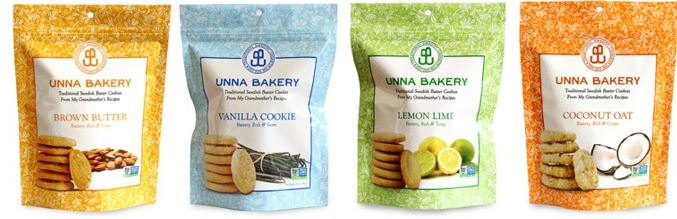 Unna Bakery   Unna Bakery is a New York bakery making traditional Swedish, small batch, gourmet cookies. Our artisanal cookies are made with the finest natural ingredients. We use organic butter, local organic flour and a local jam with berries from Upstate NY to ensure the flavor and texture of these gourmet cookies. No preservatives are added