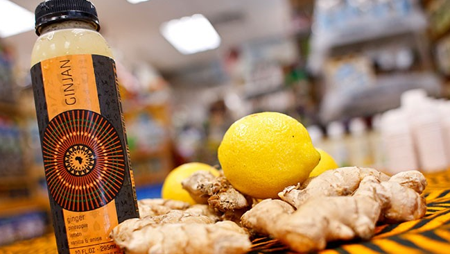 Ginjan   In Africa, a ginger drink – which forms the inspiration for GINJAN – has been widely produced and consumed an various forms for over 1000 years. We invite you to take a taste that is older than modern society, but as fresh as can be.
