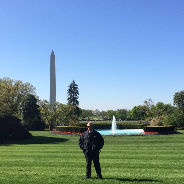 The Washington Monument from the South Lawn.