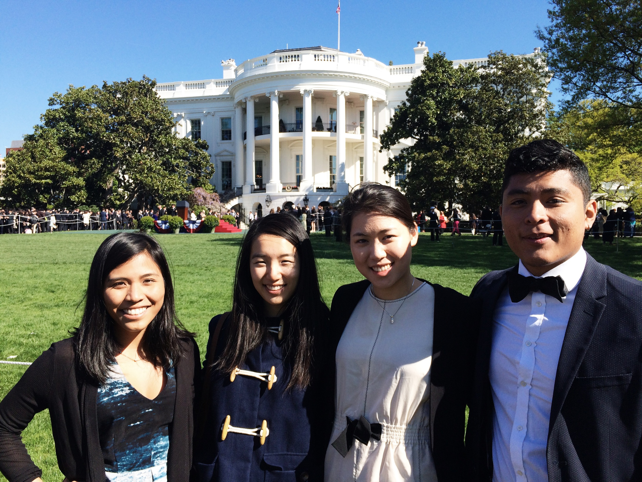 Me and my fellow interns on the South Lawn
