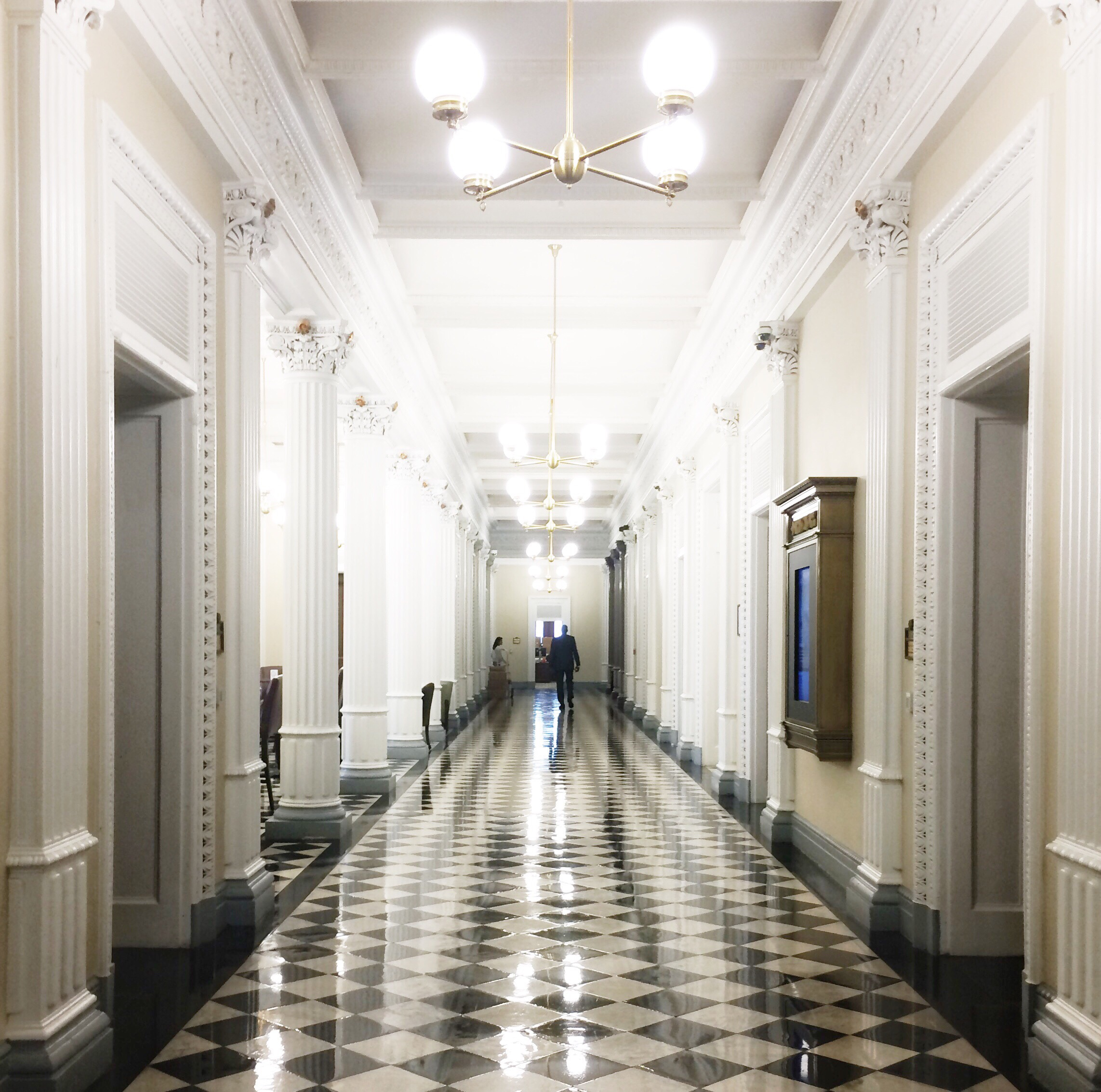 Can't get enough of these beautiful hallways.
