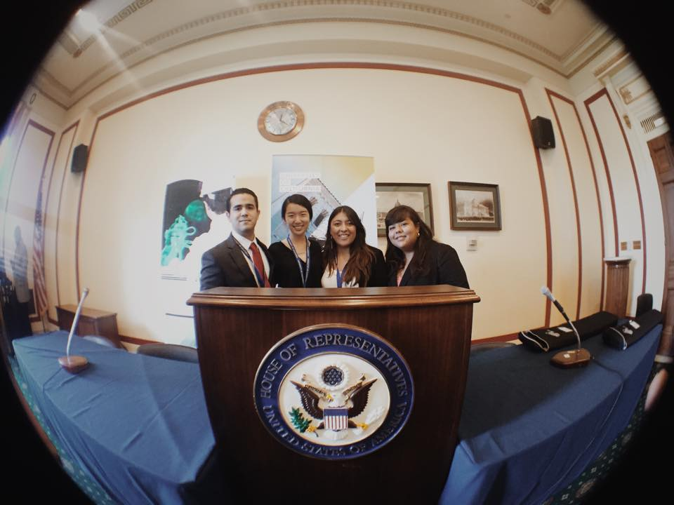 Me and fellow UCSD delegates at the House of Representatives.