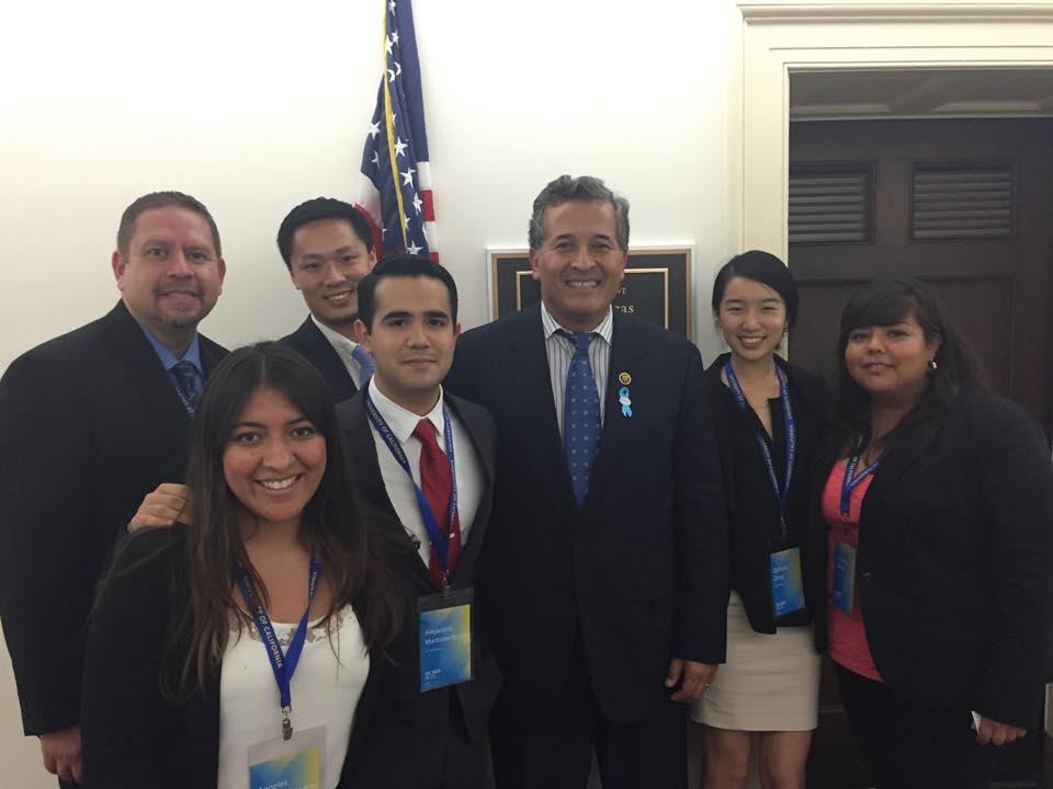 With Congressman Juan Vargas after our meeting.