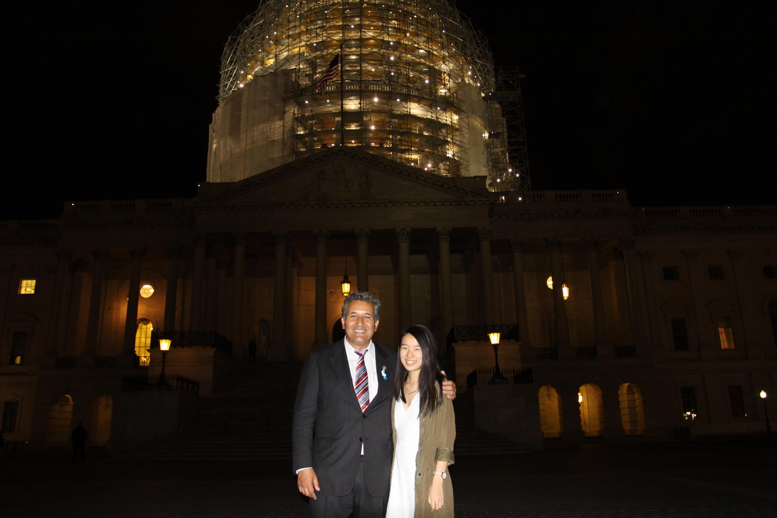 Congressman Vargas and I.