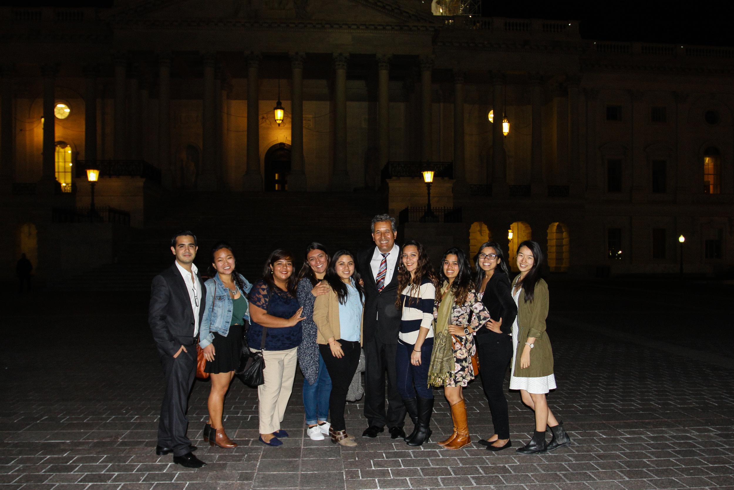 Congressman Vargas with UCSD Delegates.