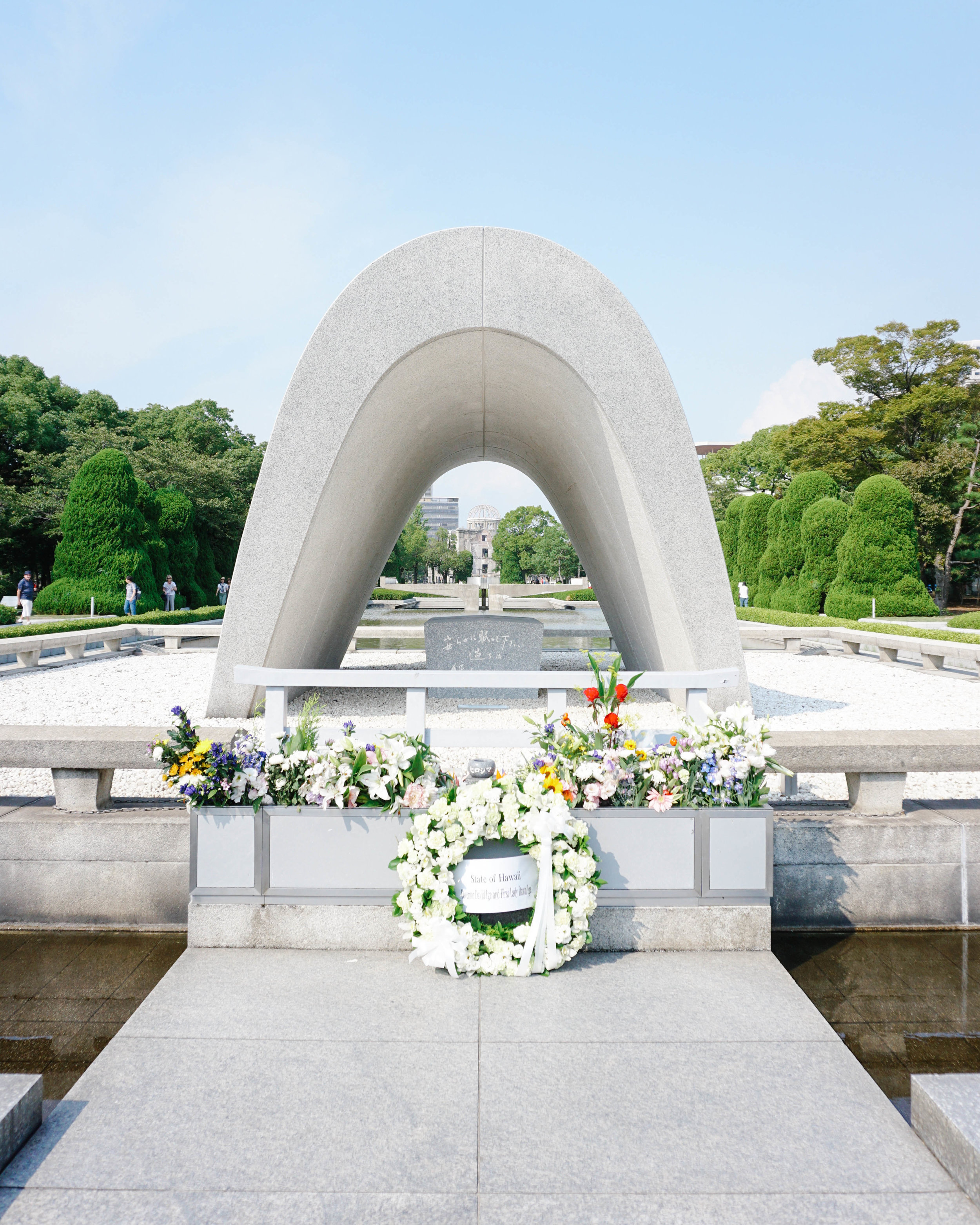 Memorial Cenotaph, Hiroshima Peace Memorial Park.