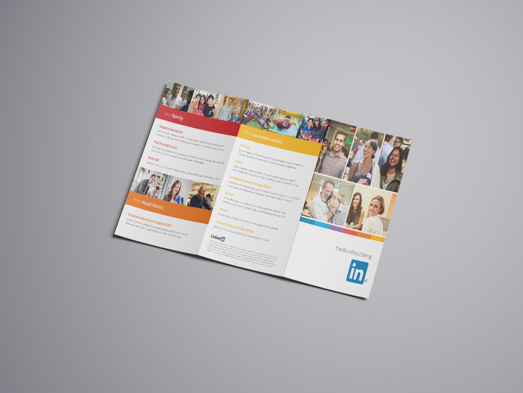 Mockup 1: Tri-fold brochure with accompanying insert.