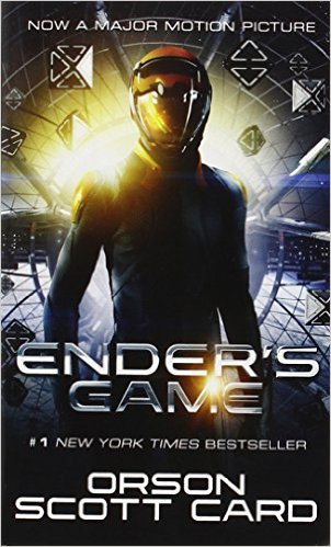 Ender's Game, by Orson Scott Card, pub. Tor Science Fiction, 352 pages .    Photo courtesy of Amazon.