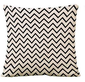 Black and white stripe toss cushion with down filled in rich cotton fabric. $49