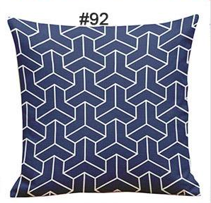 Geometric blue with down filled sealed with rich cotton fabric. $49