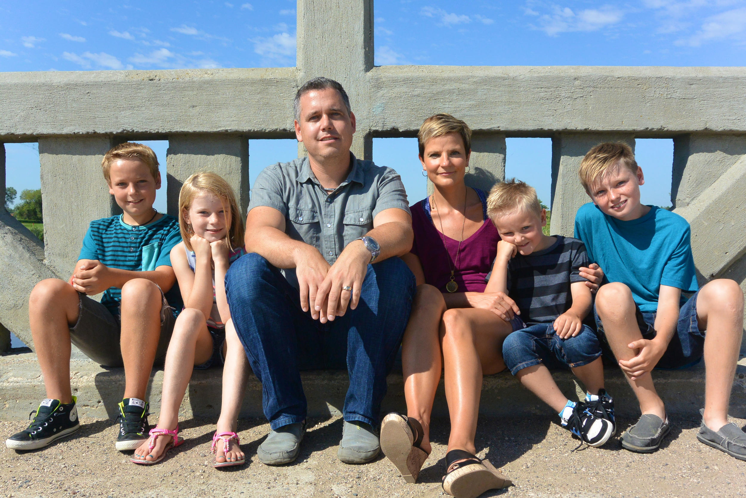 Pastor Blair with his wife, Sharon, and their four kids: Wyatt, Maguire, Emerson and Keaton