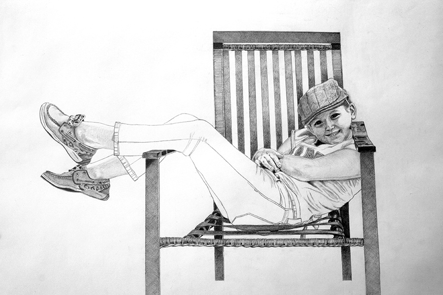 Cherryl Pape | Newsie Girl | Graphite on Paper