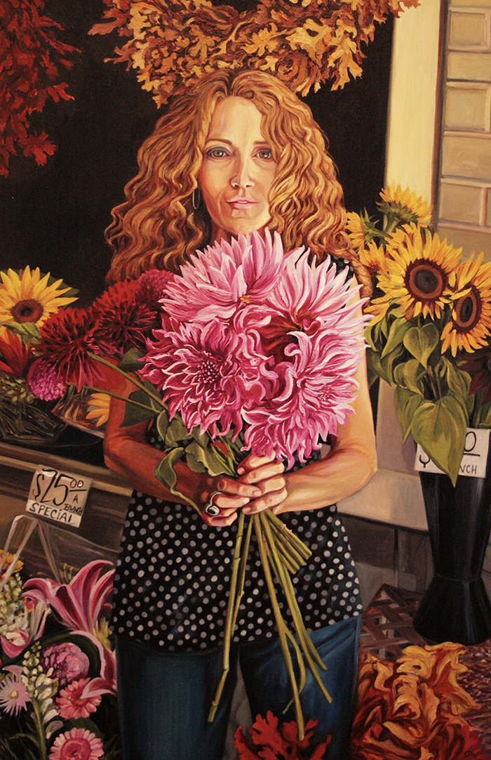 Marie Cameron | Dahlia Days | Oil