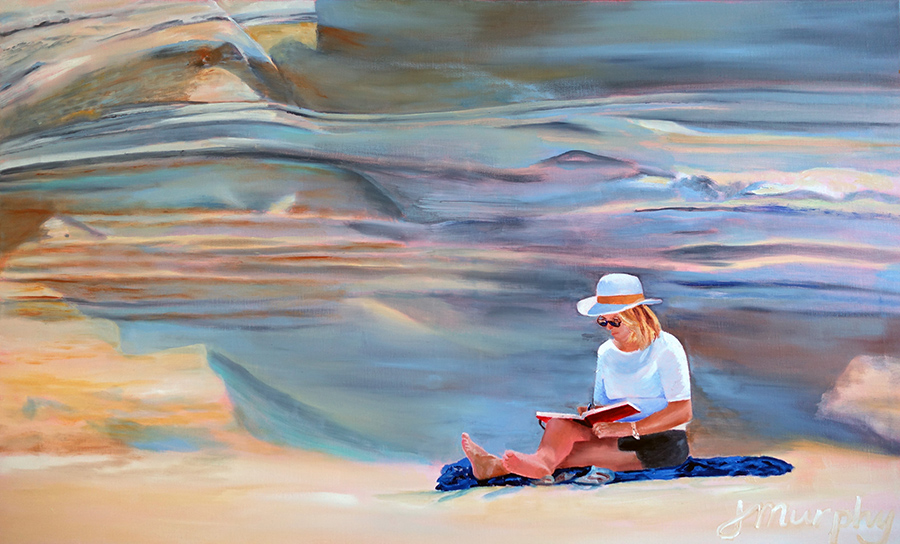 Jan Murphy | Sketching on Milos, the Island of Color | Oil