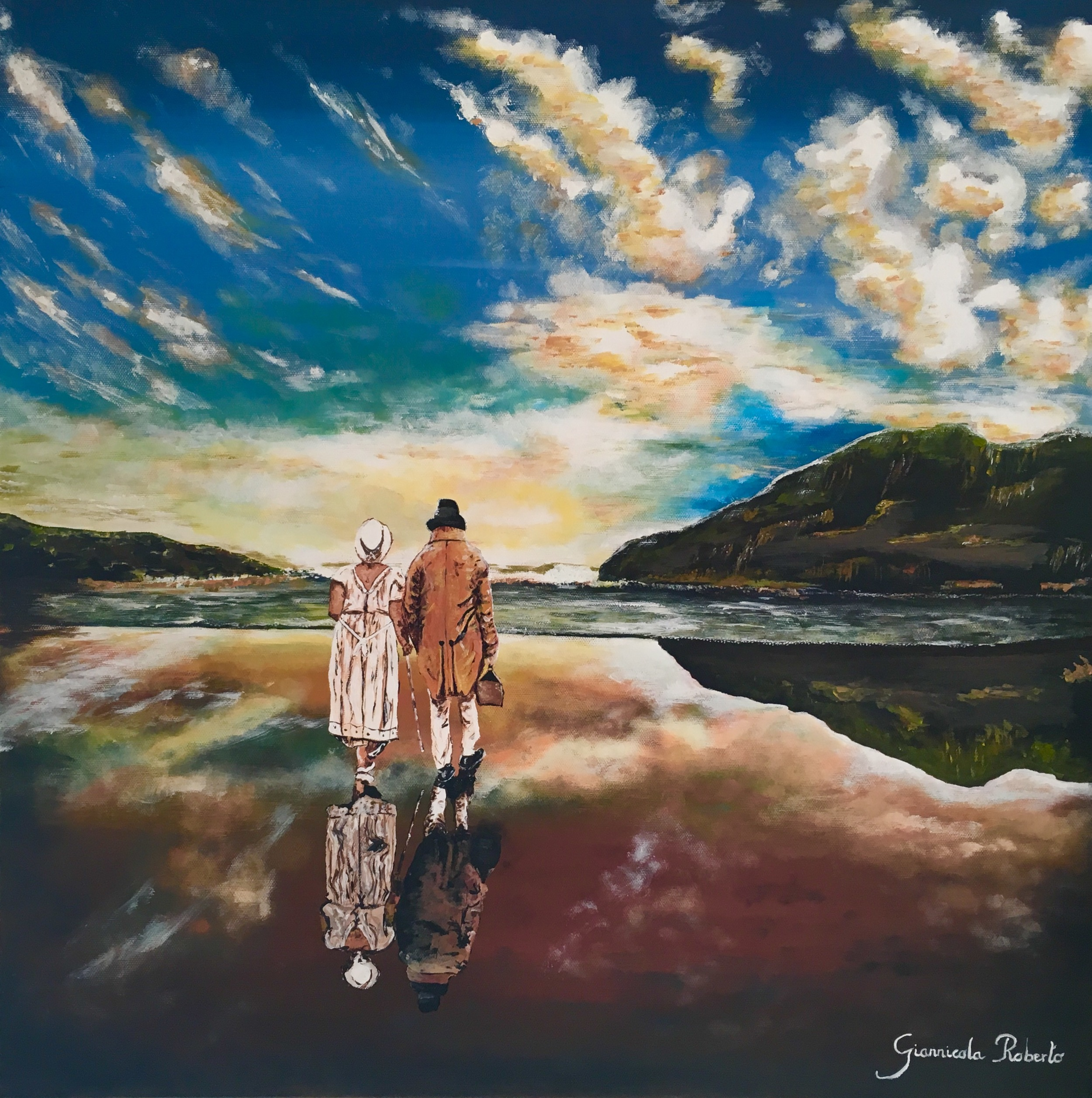 "HONORABLE MENTION  - Roberto Giannicola, ""Longevity"" (acrylic on canvas) $780"