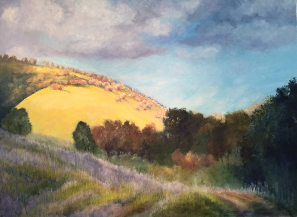 "Los Altos Foothills | Watercolor & Pastel | 30"" x 40"" 
