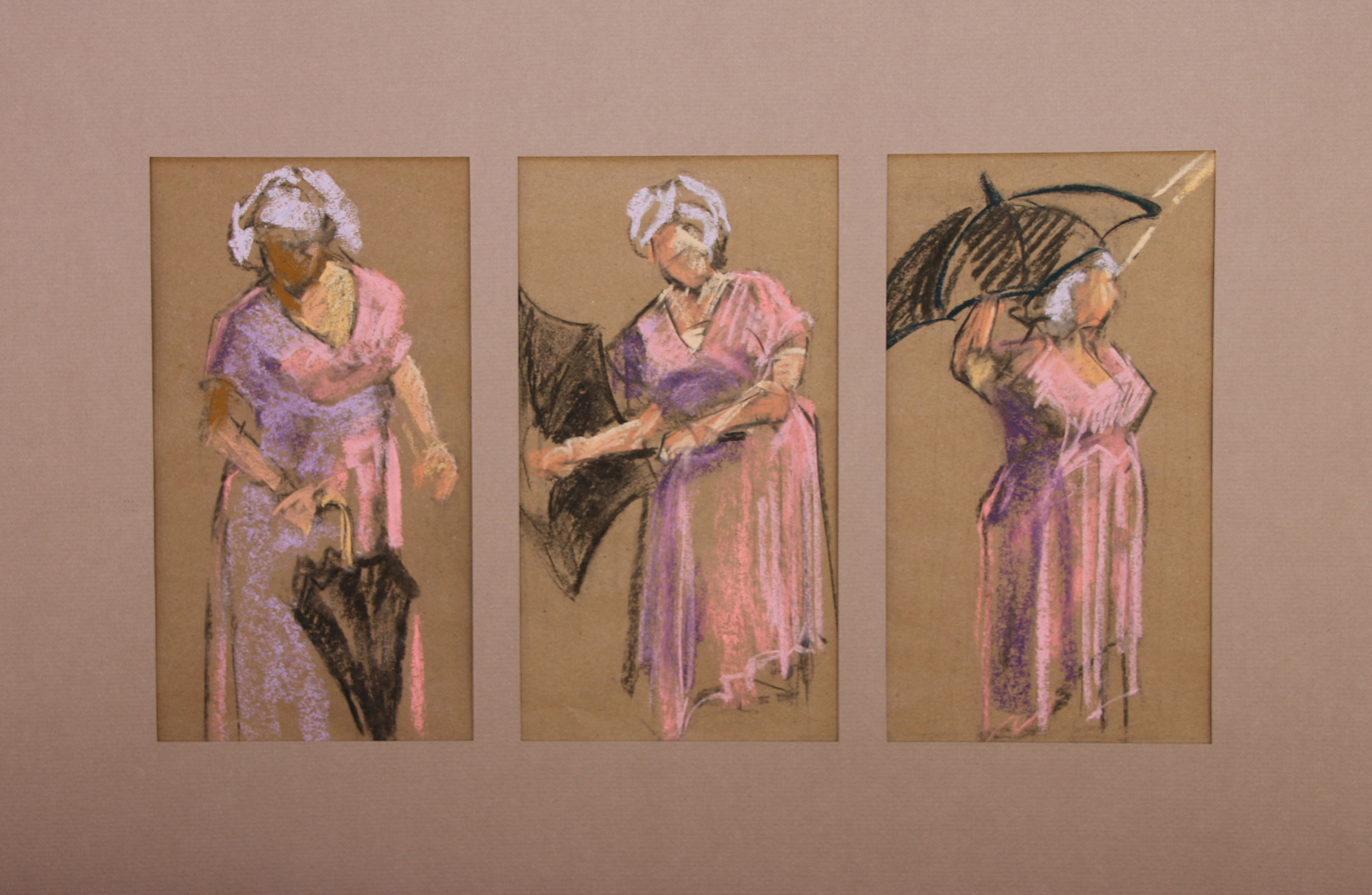 HONORABLE MENTION - Mary Holzer | Taxi | Pastel on paper