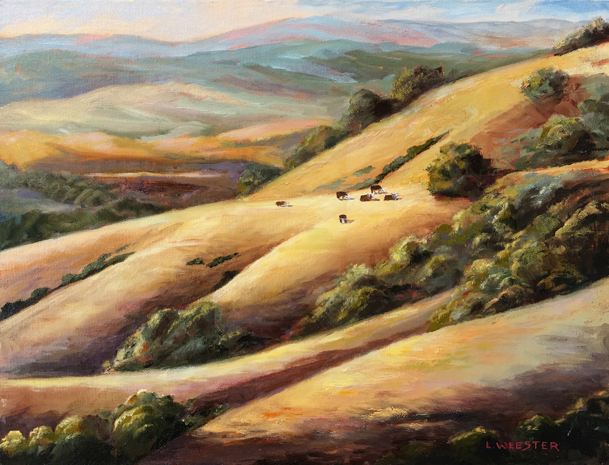 THIRD PLACE  -LaRhee Webster | California Gold | Oil on Canvas