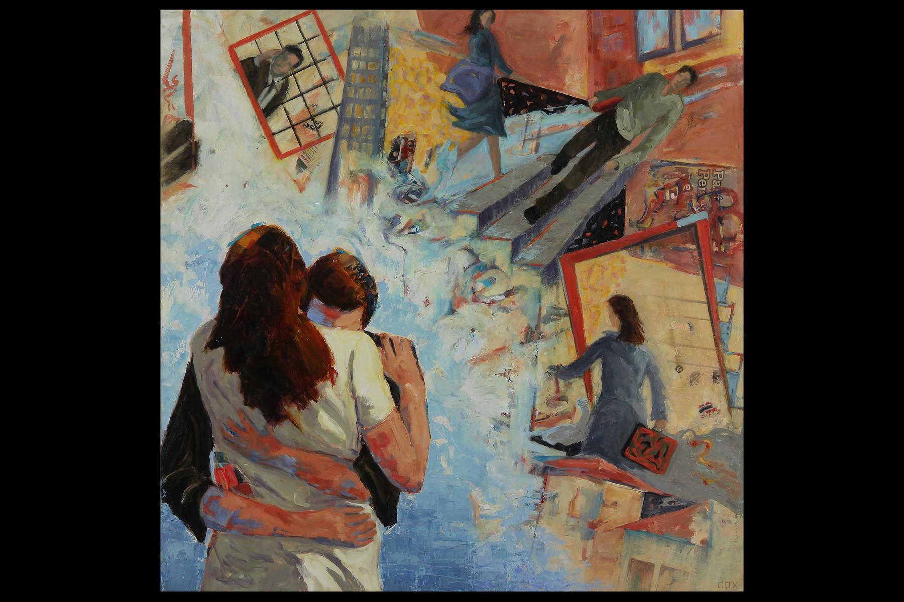 SECOND PLACE  - Marcia Cox | Momentito Por Amor | Oil, Acrylic, and Paper on Canvas