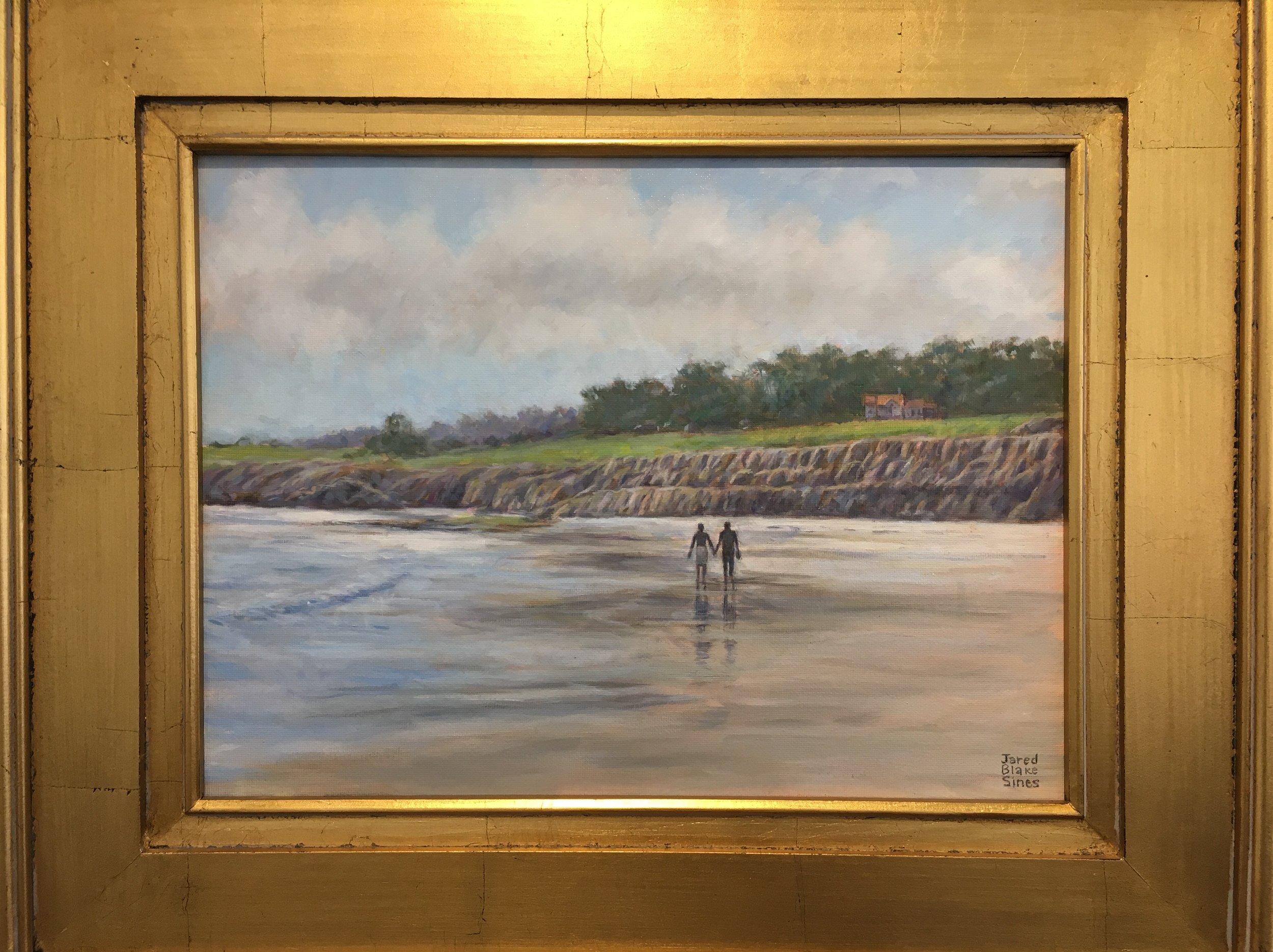 HONORABLE MENTION  - Jarred Sines | Walking on Ocean Beach | Oil on Canvas