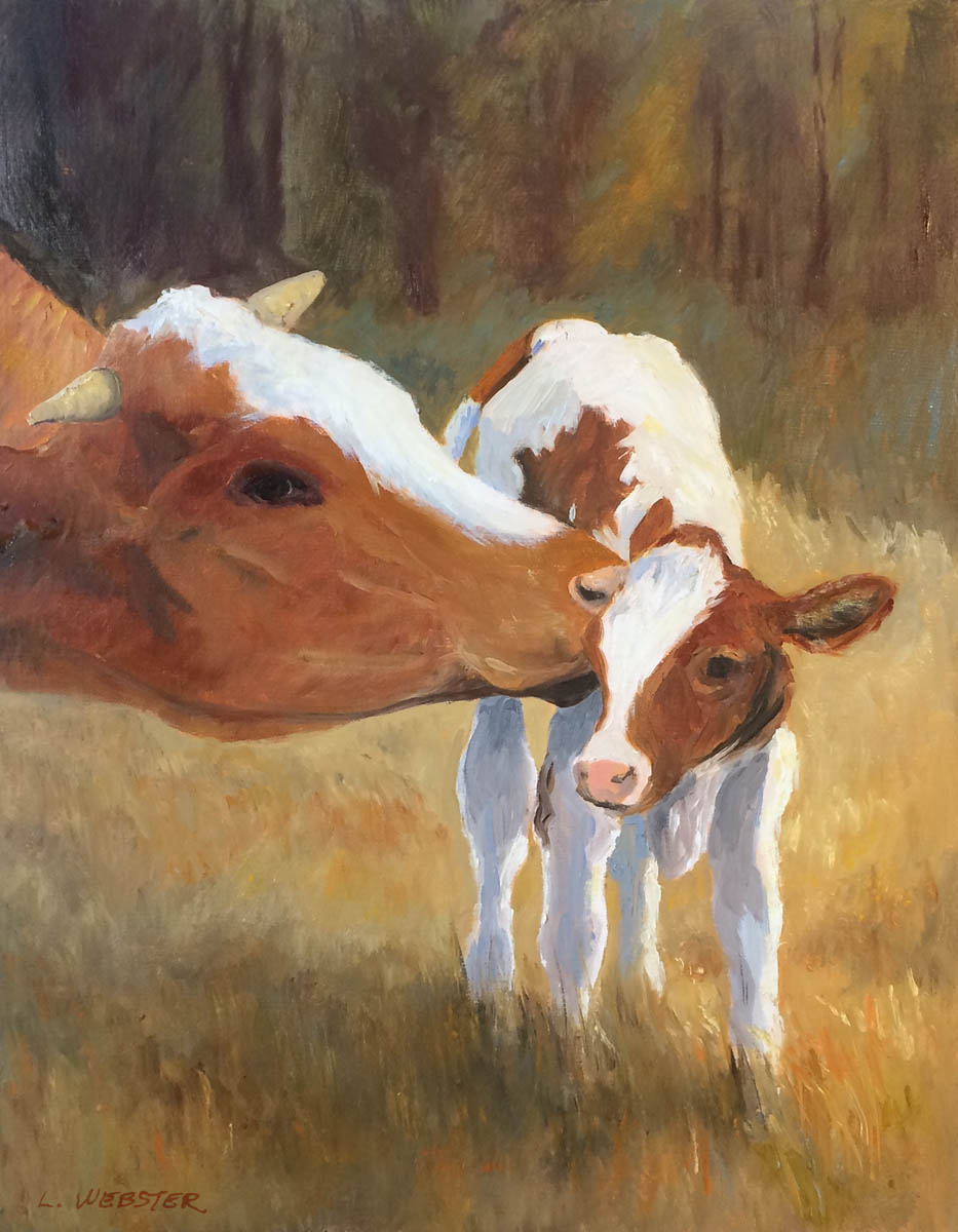 HONORABLE MENTION  - LaRhee Webster | Mama's Kiss | Oil on Canvas