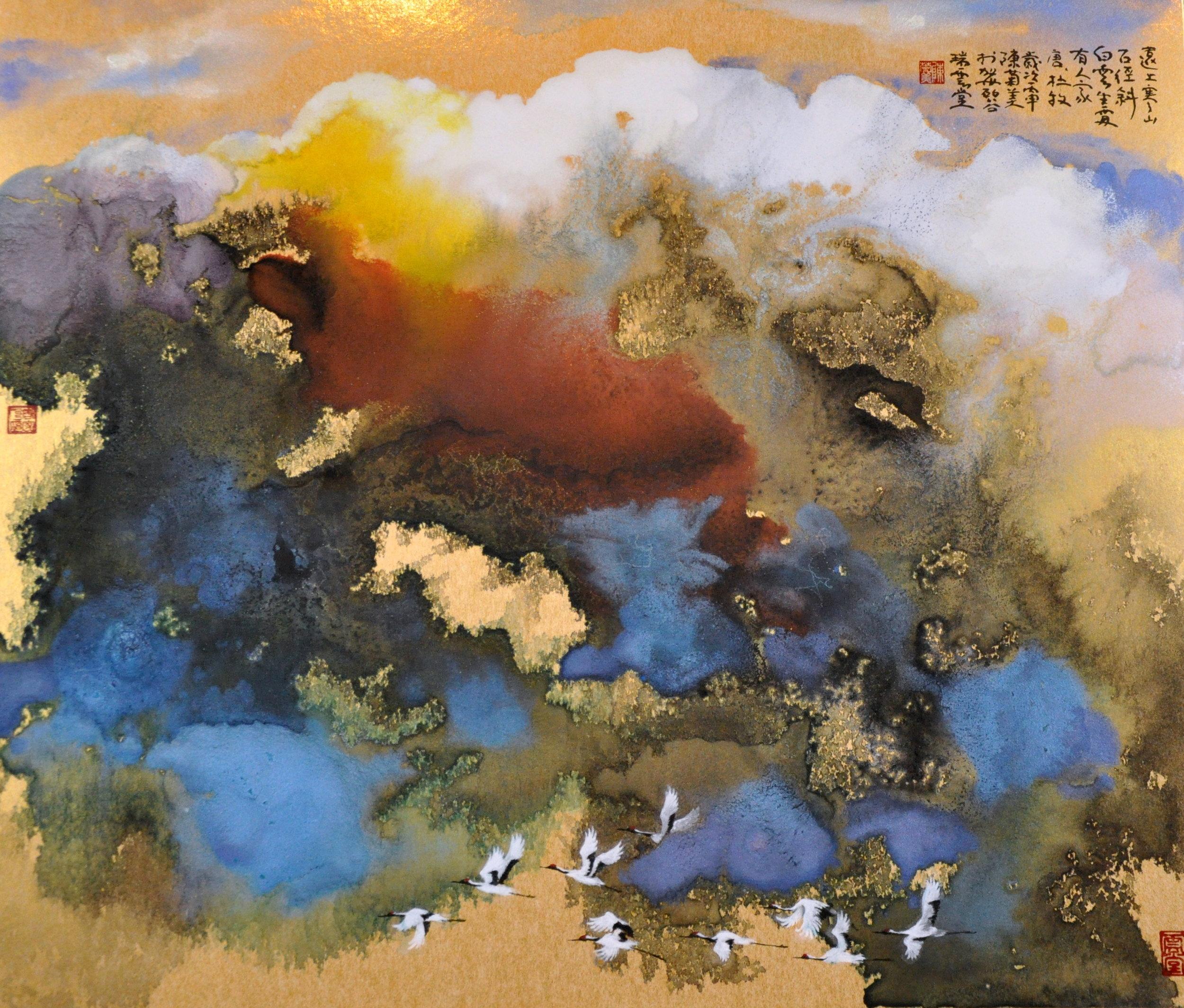 May Shei - Cranes Visit Formosan - 26x29inches.jpg