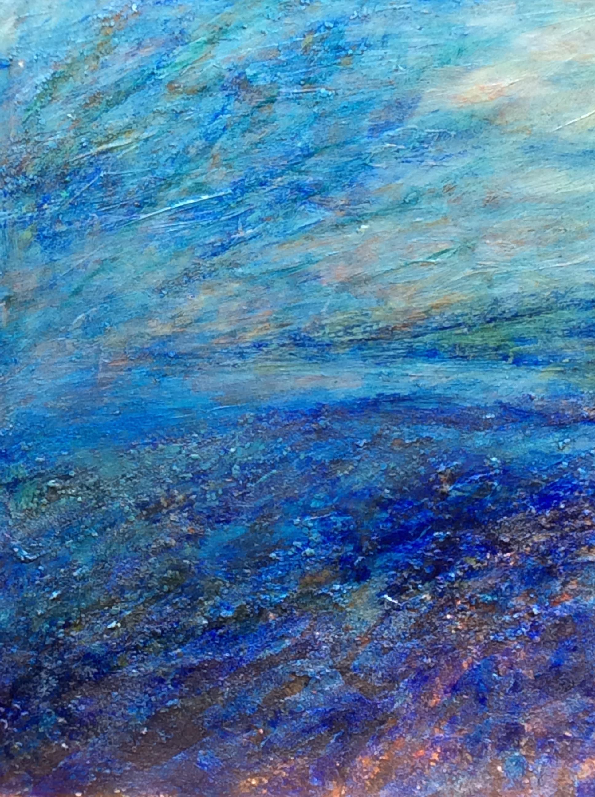 Earthscape ten  acrylic on wood panel 16in x 20in