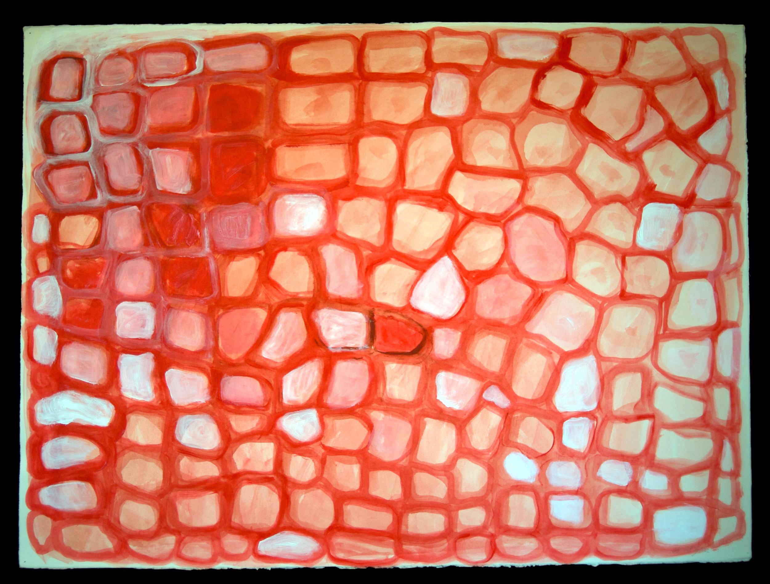 Mandala #5  acrylic on paper 22in x 30in